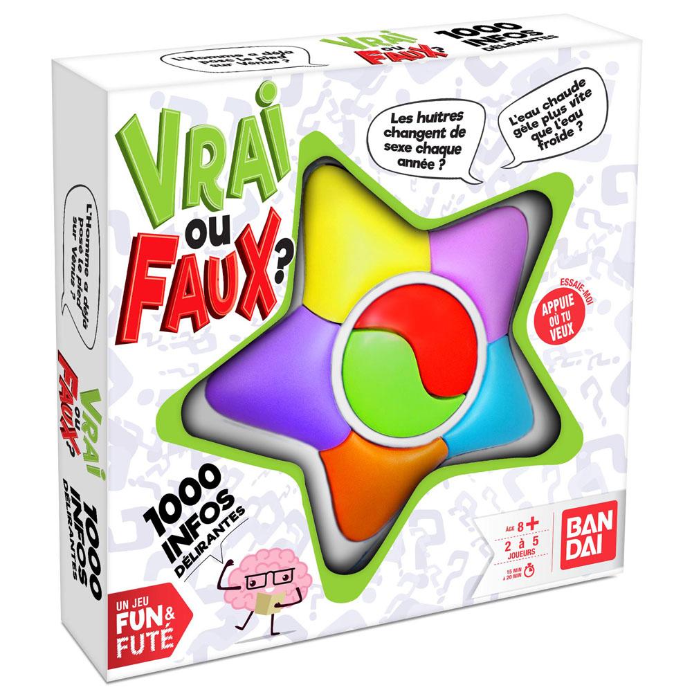 Jeux funs & futés - Vrai ou faux - Bandai.fr